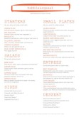 British Food A4 Menu