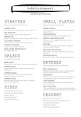 British Tavern A4 Menu