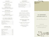 French Bistro Trifold Menu