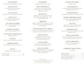 French Bistro Trifold Menu Page