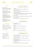 Diner Breakfast Menu Page
