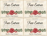 Holiday Restaurant Coupon