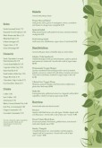 Vegan Cafe Menu A4 Page