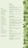 Vegan Cafe Menu Long Page