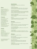 Vegan Cafe Menu Page