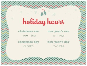 Holiday hours flyer christmas flyer for Hours of operation template microsoft word