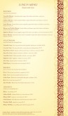 Indian Menu Long Page