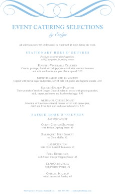 wedding catering service menu template archive