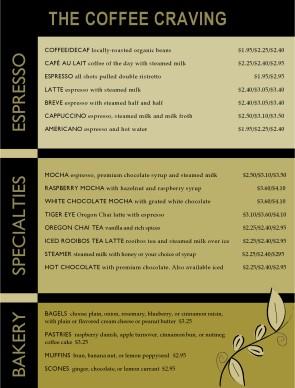 Coffee house menu template coffee house menus customize coffee house menu template maxwellsz