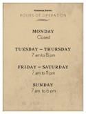Restaurant Hours Flyer