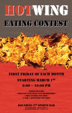 Wings Eating Contest Flyer Restaurant Flyer