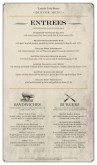 Butcher Block Menu