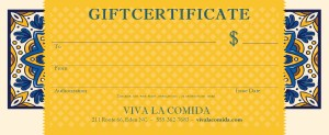 Customize Mexican Restaurant Gift Certificate