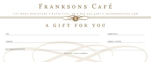 Customize Plaza Cafe Gift Certificate