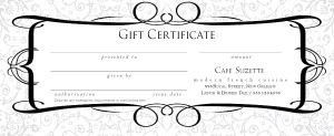 Restaurant gift certificate design marketing archive for Restaurant gift certificate template