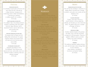Salon services trifold page spa menus see all menu templates customize salon services trifold page maxwellsz