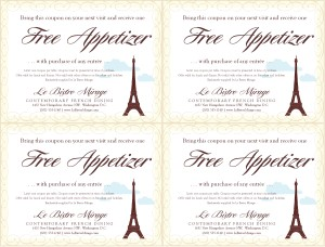 French Food Coupons Marketing Archive