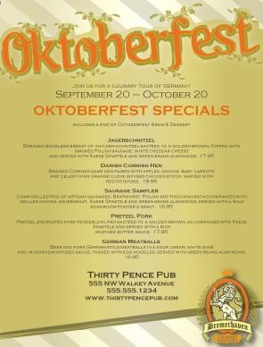 Bremerhaven Oktoberfest Menu Fsa