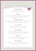Valentines Event Table Tent Menu