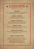 Family Burgers Table Tent Menu