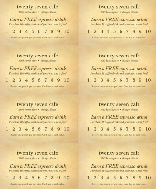 frequent diner card template - rewards punch card marketing archive