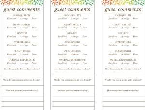 comments html template - veg restaurant comment cards marketing archive