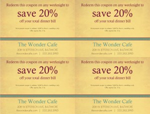 new cafe coupon template marketing archive