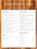 Tequila Bar Food Menu