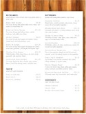 Tequila Bar Menu Page