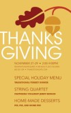 Traditional Thanksgiving Flyer