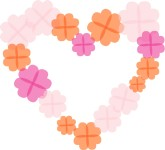 Paper Flower Heart Clipart