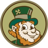Smiling Leprechaun Clipart