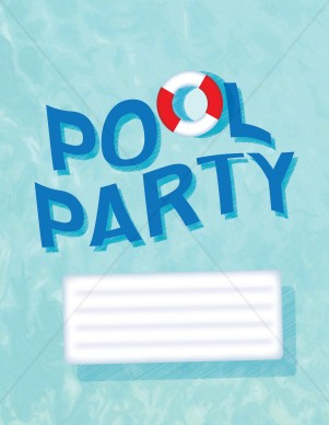 Pool Party Background Event Graphics