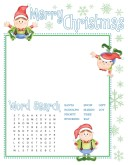 Santas Elves Activity Background