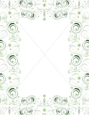 Green swirl border christmas menu images altavistaventures Images