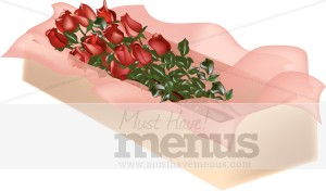 Box of Roses Clipart