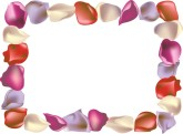 Pink and Purple Rose Petal Horizontal Frame