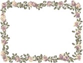 Formal Roses Horizontal Menu Frame