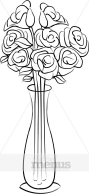 Vase of Roses Clipart