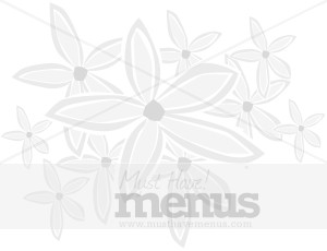 Gray Daisy Field Menu Backdrop
