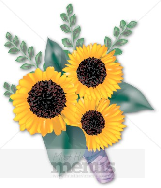 Sunflower Bouquet Clipart