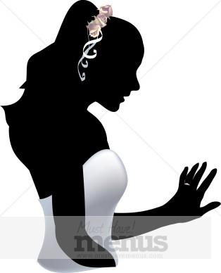 bride silhouette clipart wedding clipart