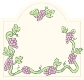 Small Grape Vine Label