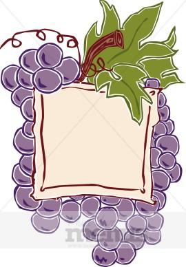 Wine Label Clipart | Wine Clipart Purple Top Border Clip Art