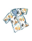 Hawaiian Mens Shirt Clipart
