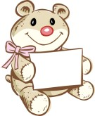 Teddy Bear Gift Clipart
