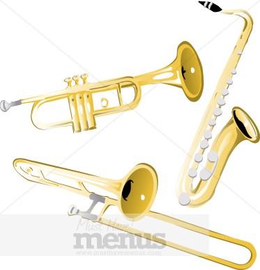 Brass Horns Clipart | Wedding Clipart