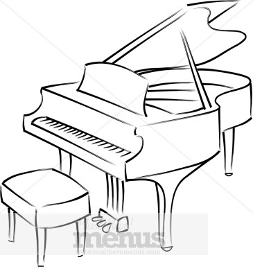 Piano Bar Clipart | Fine Dining Clipart