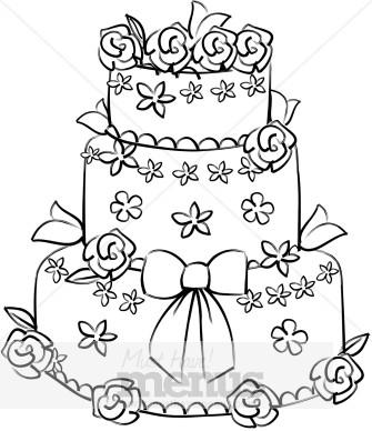 Flower Wedding Cake Clipart