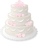 Summer Wedding Cake Clipart